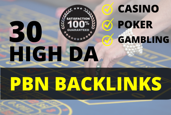 30 Homepage High Quality PBN backlinks for CASINO GAMBLING POKER