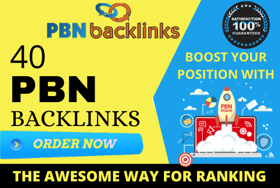 Build 40 PBN Backlinks from high trust flow real authority pbns