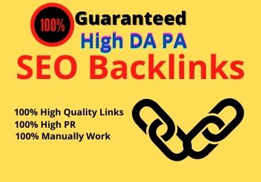 I will Build 40 HQ Backlinks with High DA site for ranging your website