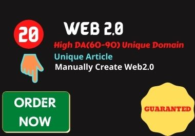 I will do 20 High Authority Web2.0 Do follow Backlinks For Ranking Your Blog