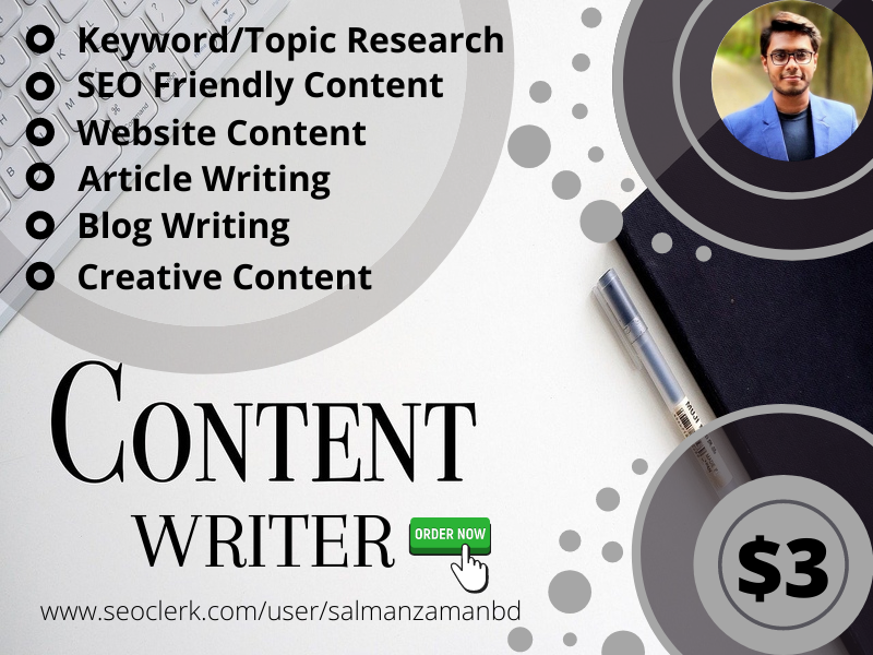 I Will Write 1000 Words SEO Friendly Content Writing/Blogs/Articles Content