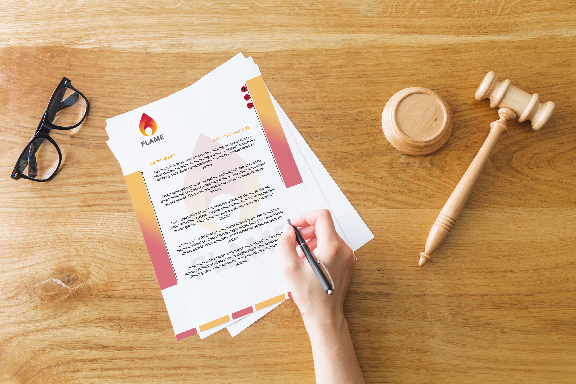 I will design creative letterhead in word format with in 12 hours