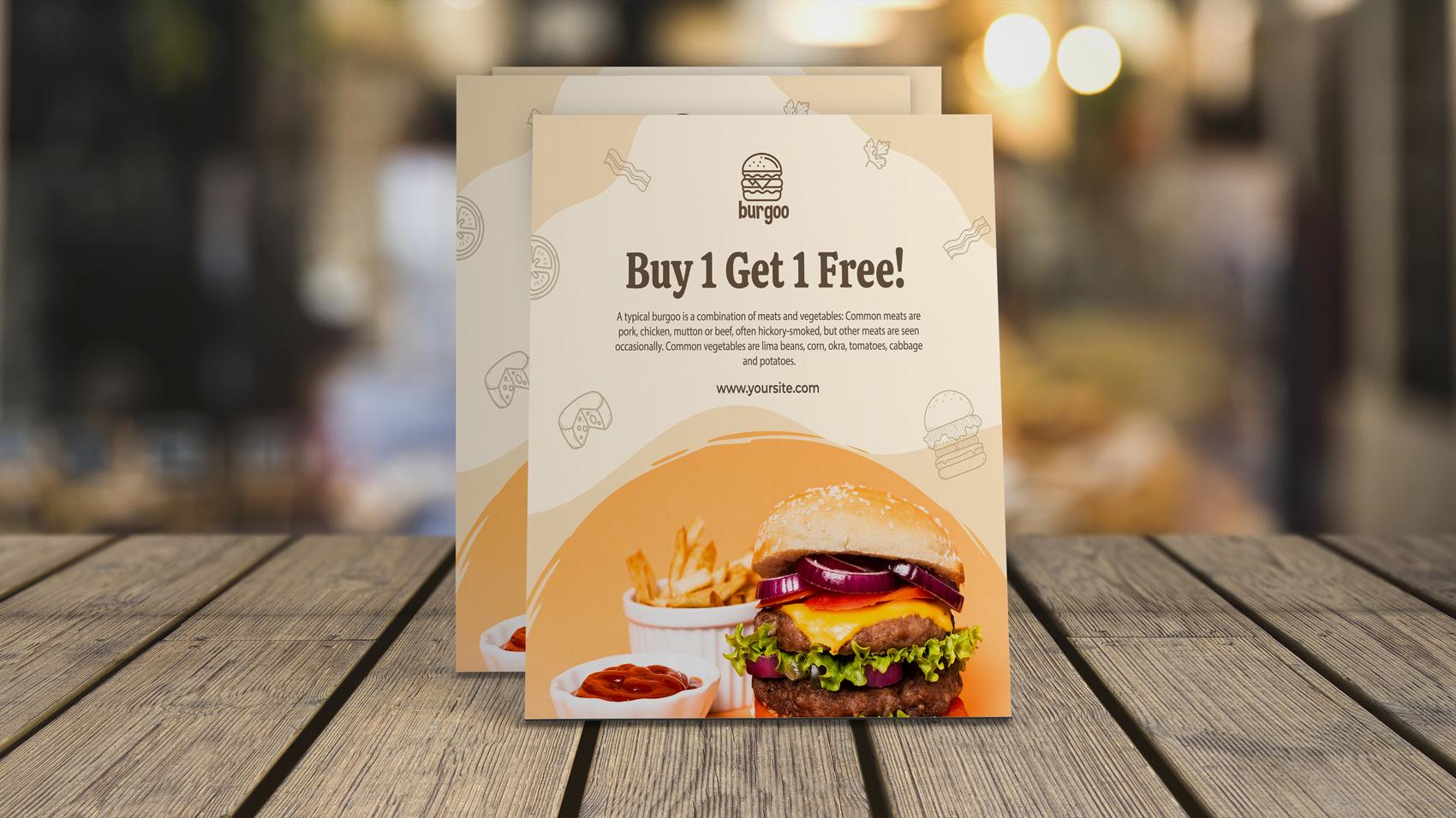 Create modern restaurant menu,  food menu,  flyer or brochure