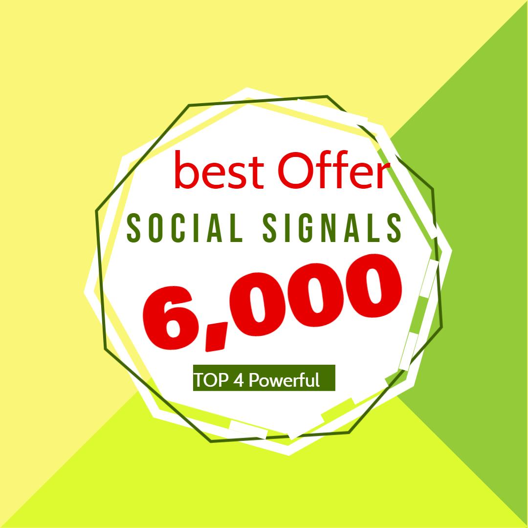 I will do manual 6,000 social signals from 4 social media sites