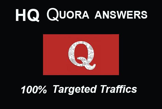 I will provide 30 HQ Quora answers service