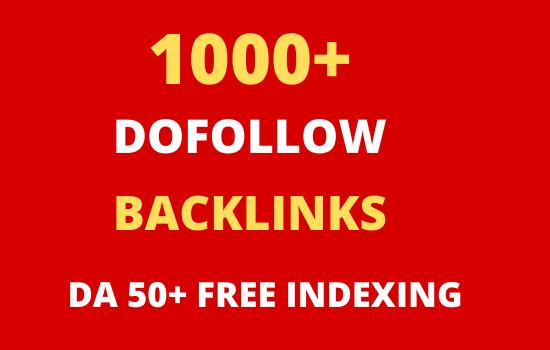 I will do high quality contextual SEO dofollow backlinks service