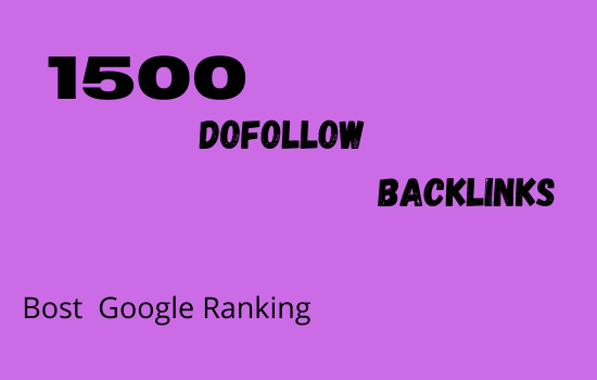 I will do seo link building with contextual 1500 dofollow backlinks