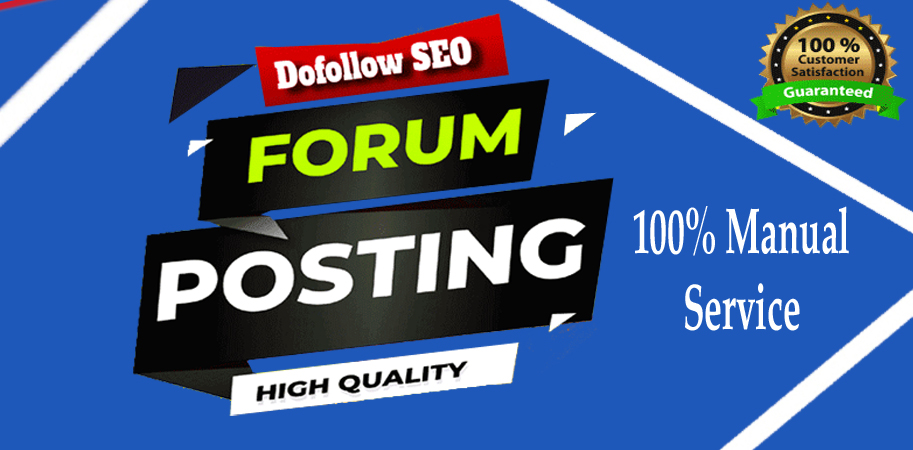 I Will Create 25 Forum Posting with high quality SEO Backlinks