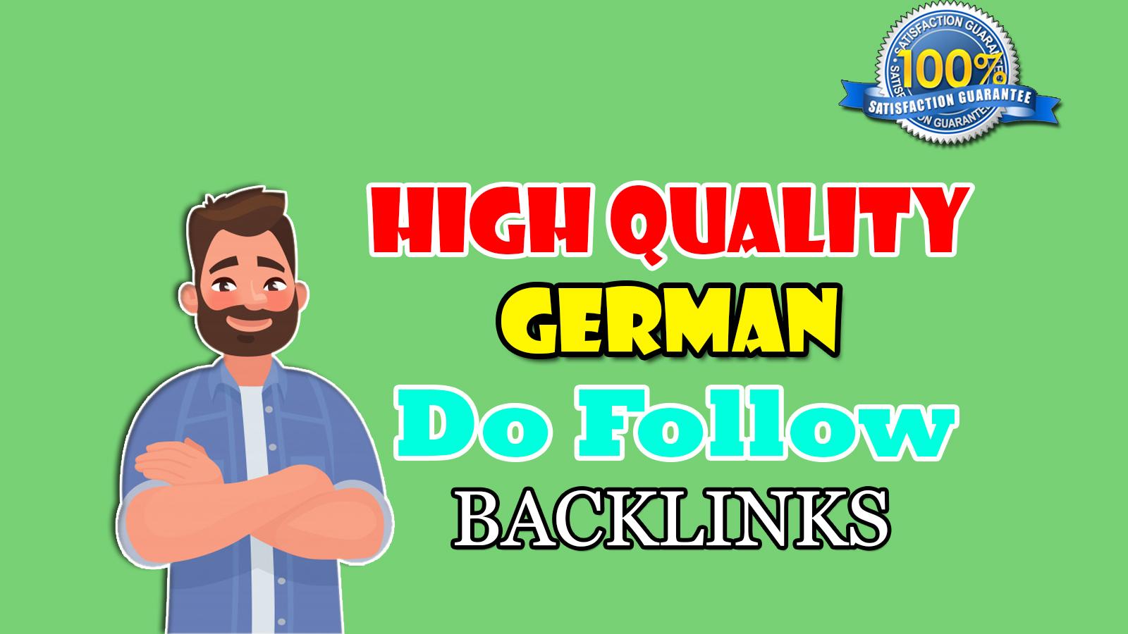 I will do high quality SEO 30 Do follow german backlinks