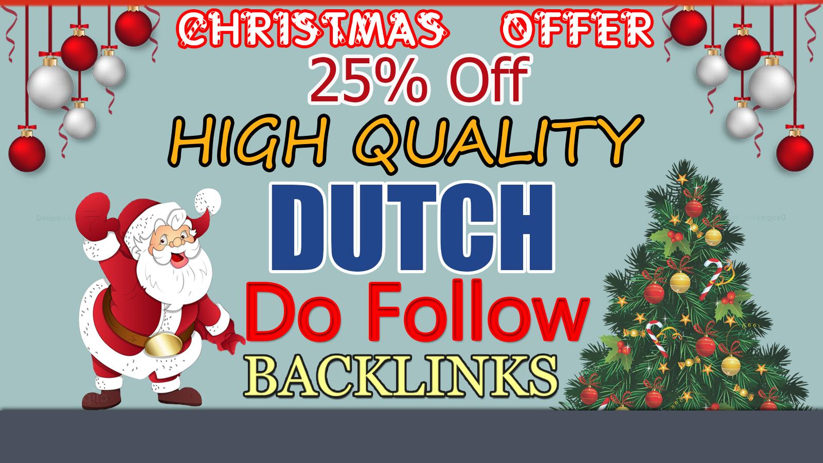 I will do high quality dutch SEO authority 35 backlinks