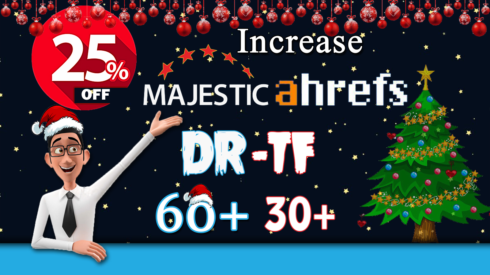 I will increase your website DR 60+ & TF 30+ on your niche