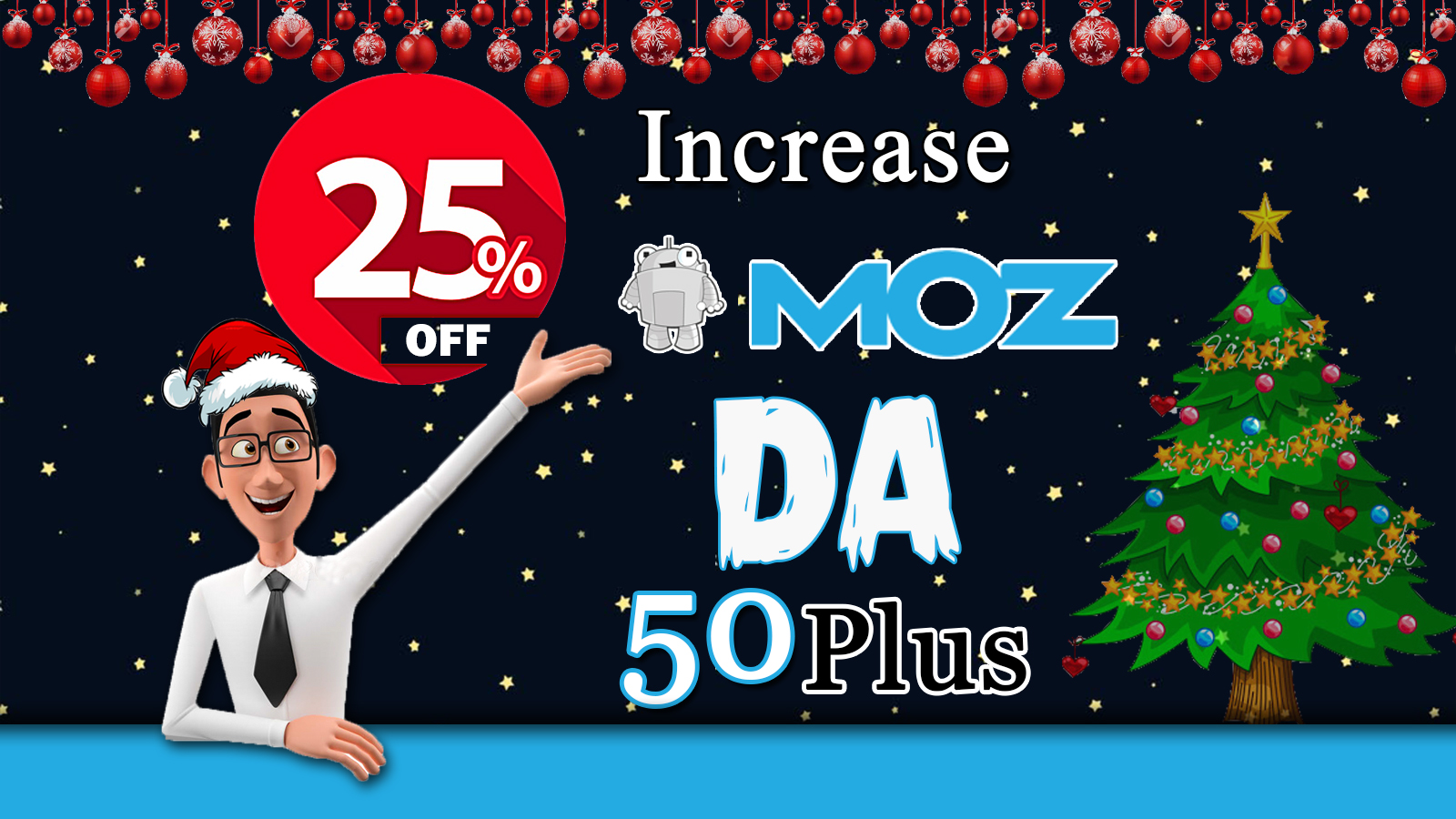 I will increase your domain authority,  Moz DA 50 plus