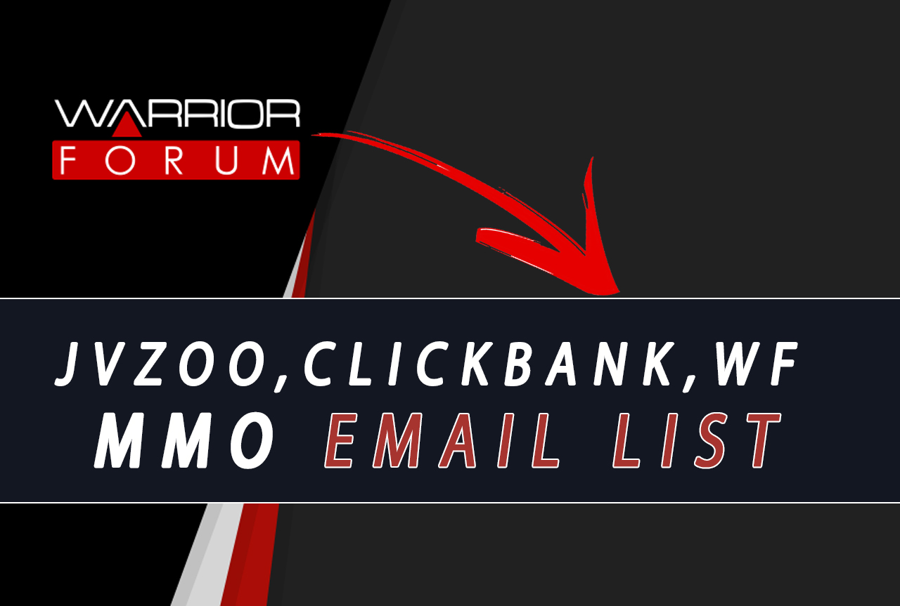 I will give you my IM bizopp jvzoo clickbank buyers email list