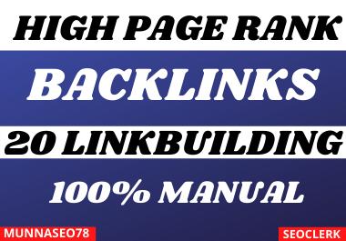 create 20 high authority dofollow seo backlinks link building