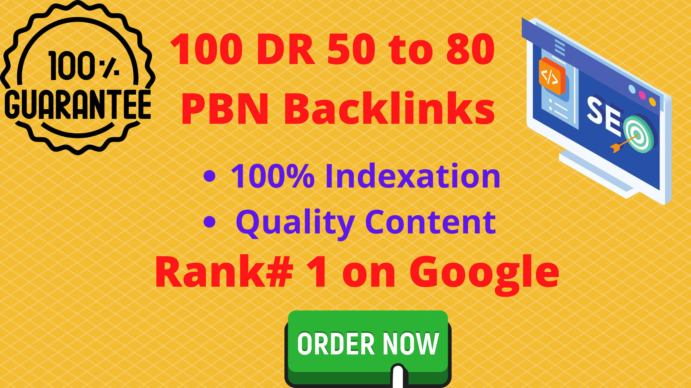 create 100 DR 50 to 80 homepage backlinks