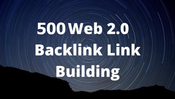 manually 500 web 2.0 seo backlinks link building
