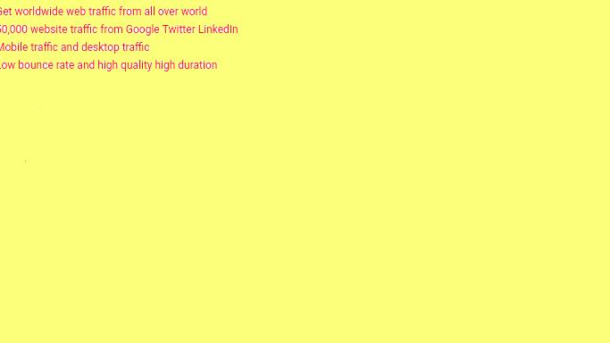 Hq keywords 50000 web traffic from Google Twitter