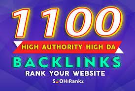 Build 1100 high authority dofollow SEO backlinks