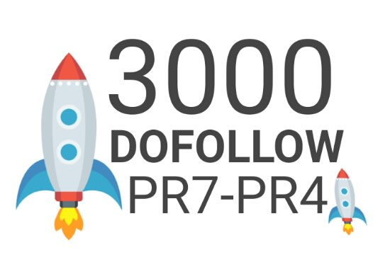 Provide 3000 high authority dofollow backlinks