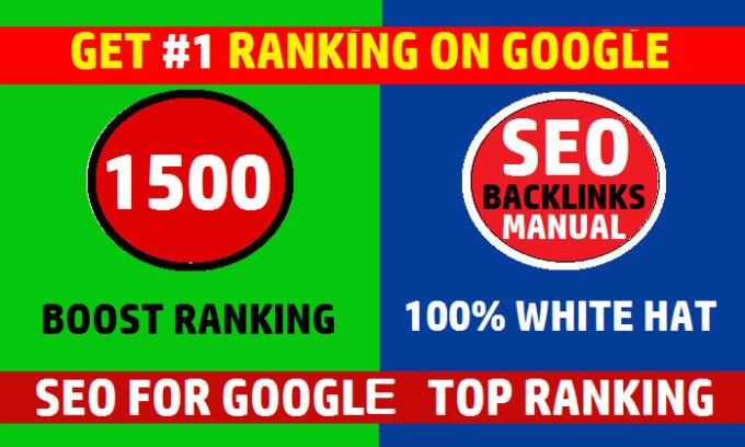 Create 1500 SEO backlinks,  link building service