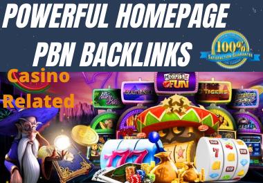 Powerful Homepage 1000 CASINO, Poker, Gambling, Judi bola,  High Quality With DA60+ DR50+ PBN Backlinks