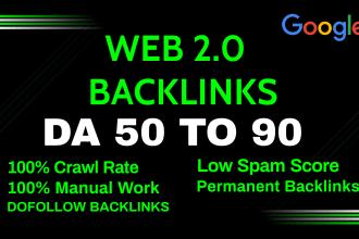 create 100+ Manually high authority web 2.0 backlinks