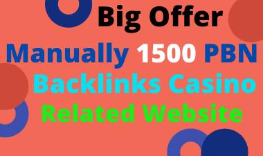 Big Offer 1500 High Quality Dofollow PBN Backlinks Casino,  Gambling,  Poker Releted Websites