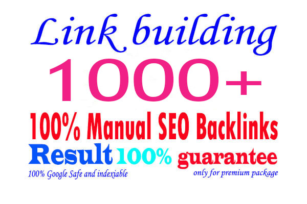 I will do 1000+ SEO backlinks white hat link building service for help google top ranking