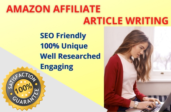 I will write 1000+ SEO friendly Amazon affiliate articles for your NICHE sites