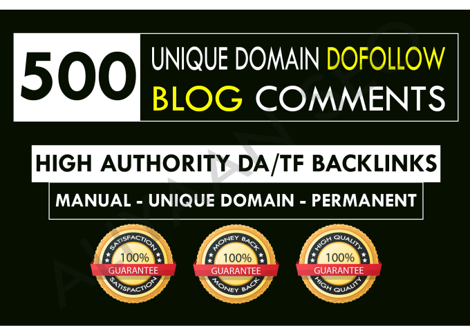 I will create 500 dofollow unique domain blog comment backlinks