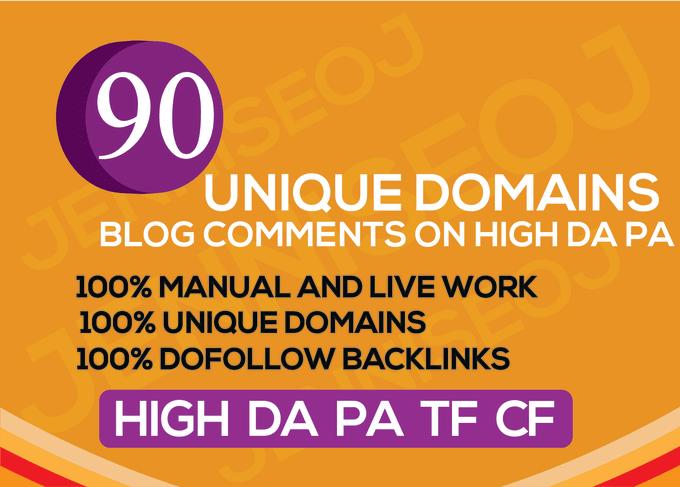 I will do 90 unique domain SEO backlinks on da20 to da100 sites improves SEO in 2020
