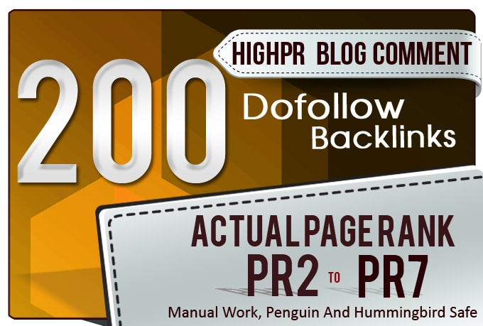 I will give you 200 dofollow top quality Blog comment backlinks
