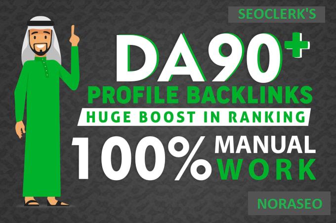I will high da 100 profile backlinks whitehat manual SEO backlinks