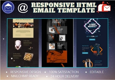 I will create responsive and Sparkling email template for you