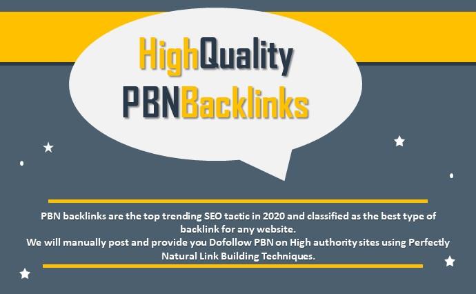I Will do Build 10 High PA DA TF CF HomePage PBN Backlinks - Dofollow Quality Links