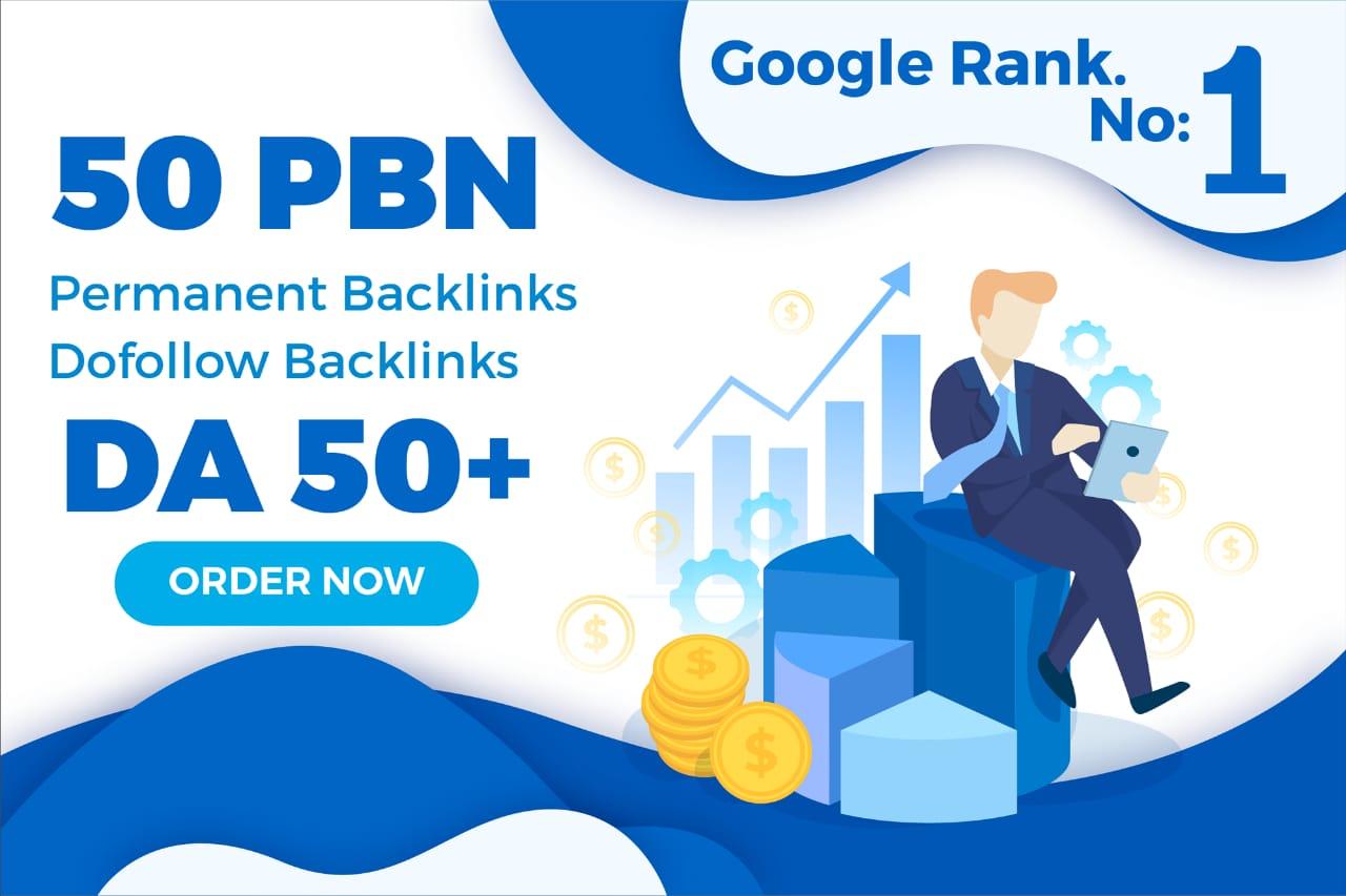 I Will Provide 50 Homepage PBN DA 50 Plus High Quality Permanent SEO Backlinks