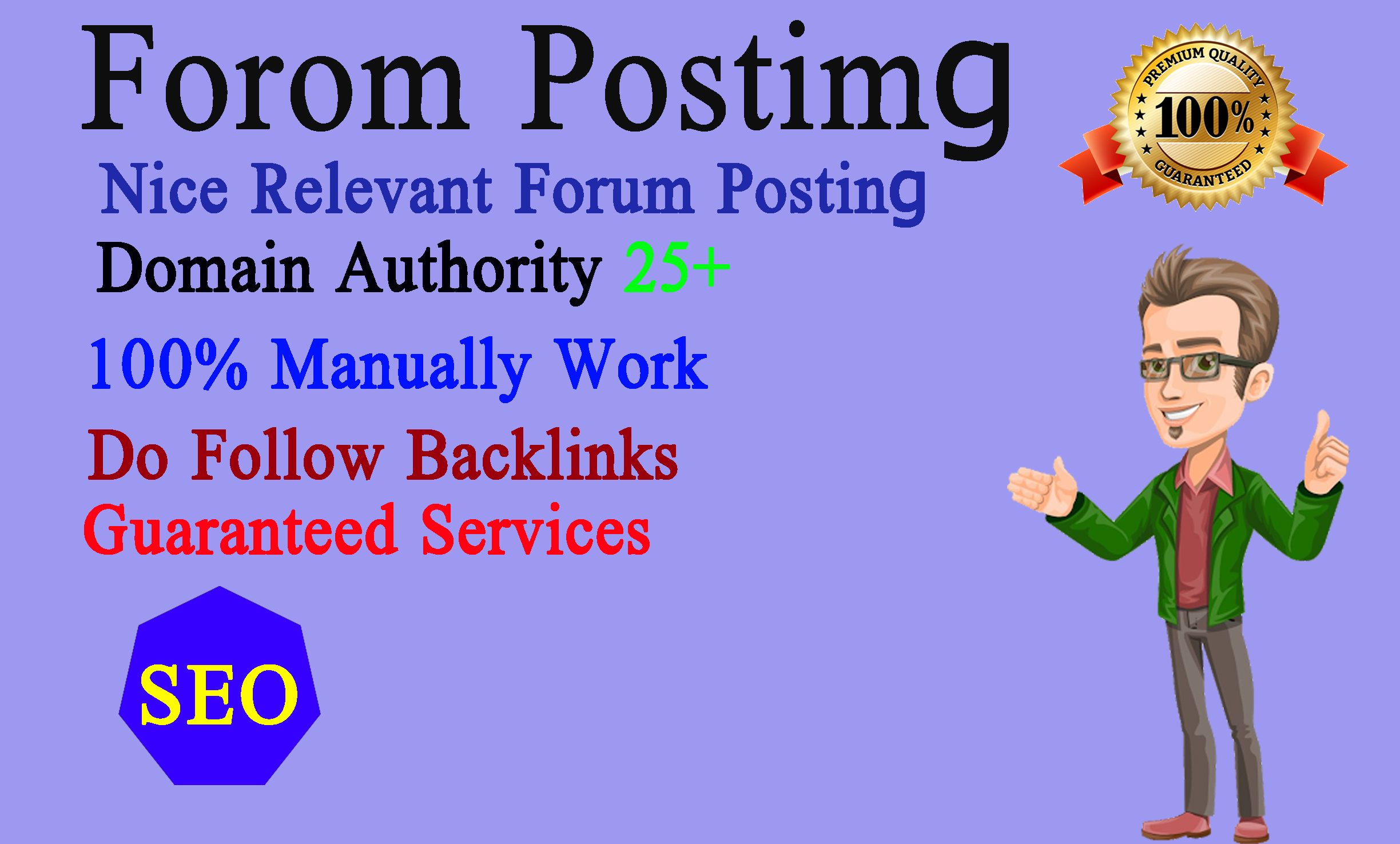 I will make 25+ niche related do follow forum posting backlinks