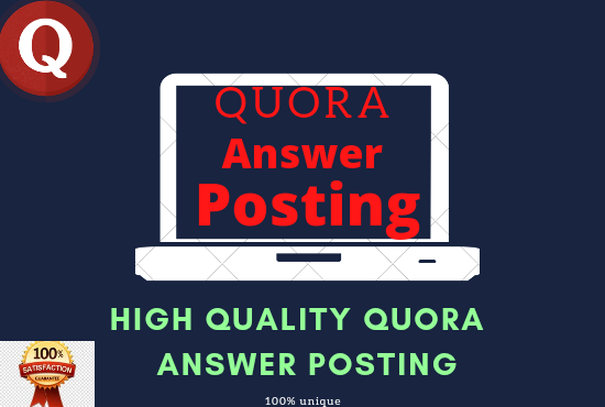 Promote your website with 3 high-quality Quora Answer Posting With your keyword and Url...