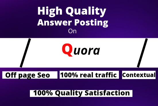 Promote your website with 30 high quality Quora answer posting