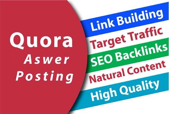 High Quality 5 Quora Answer with your keywords & URL