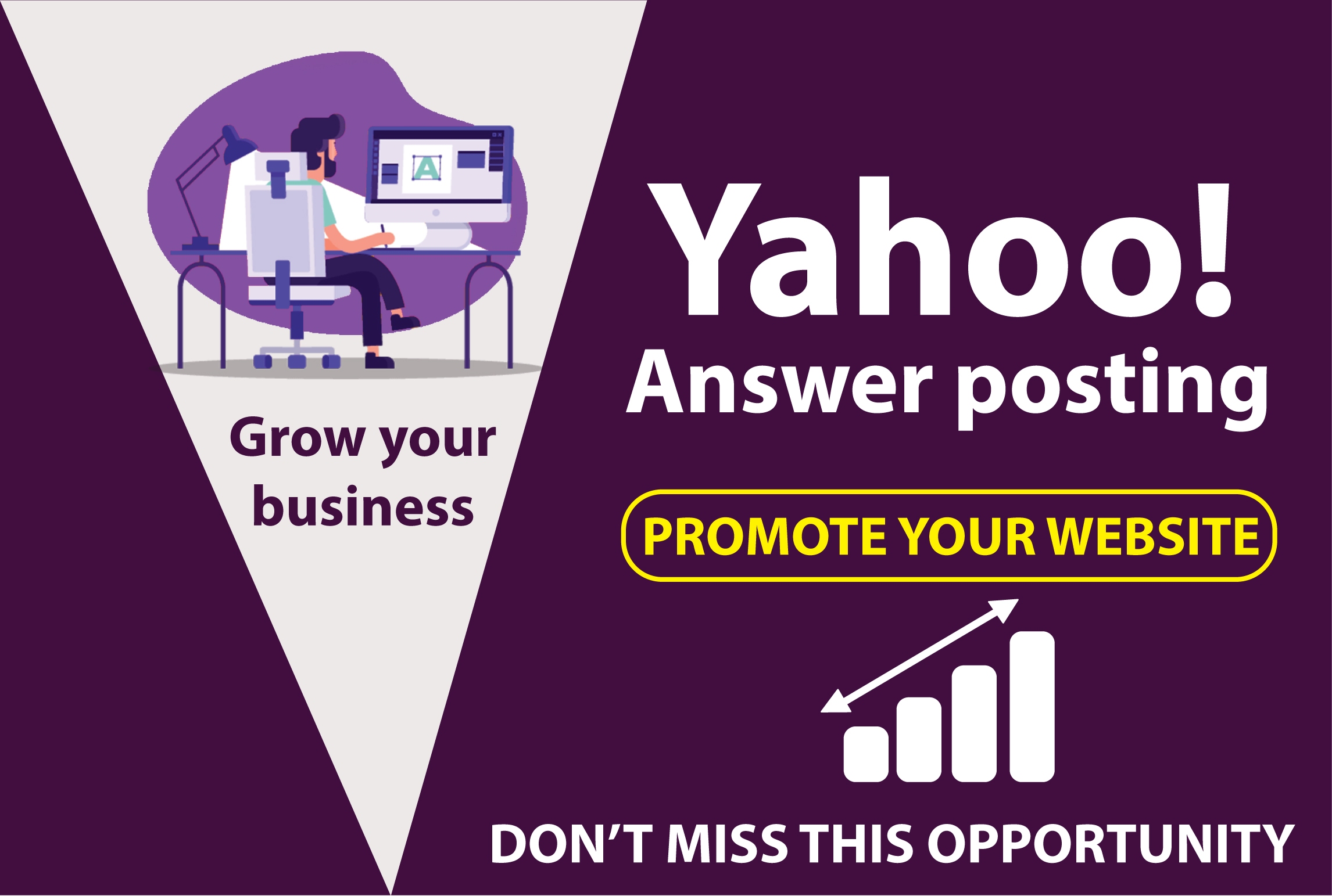 Promote your website 10 high quality yahoo answer backlink