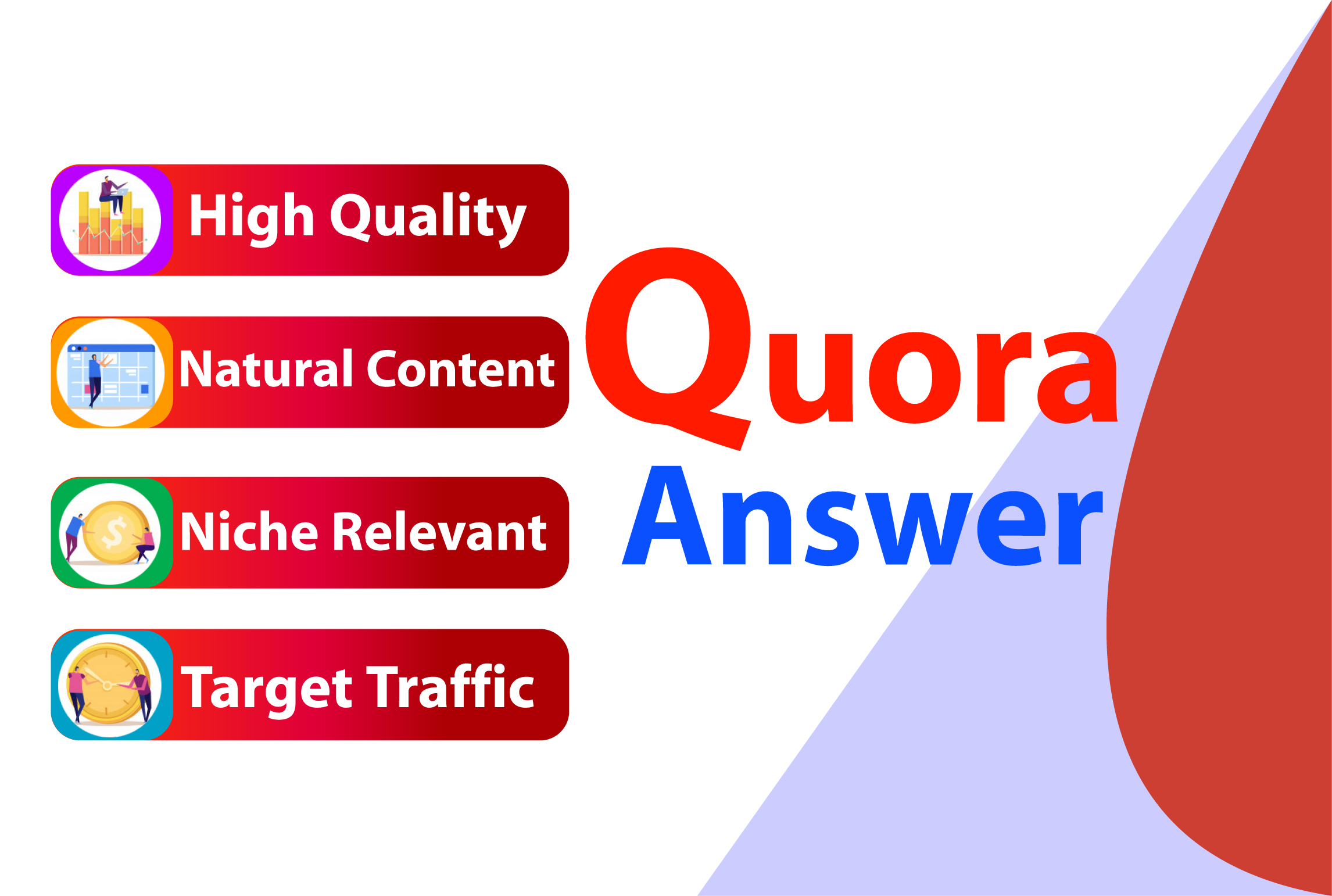 I will Promote your website with 3 HQ Quora answer