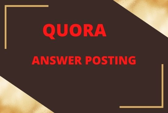 Promote your website with 20 unique Quora answer posting