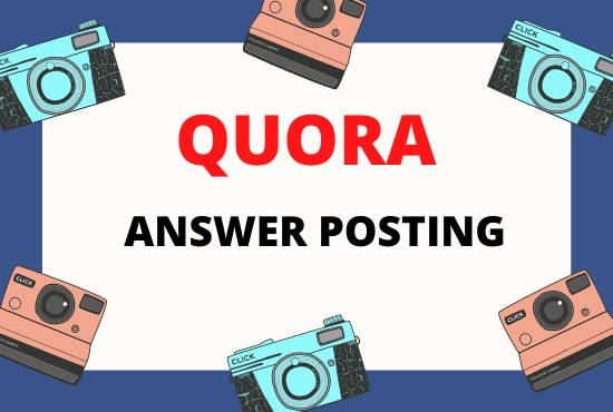 Get 3 HQ Quora answer with your keyword and URL