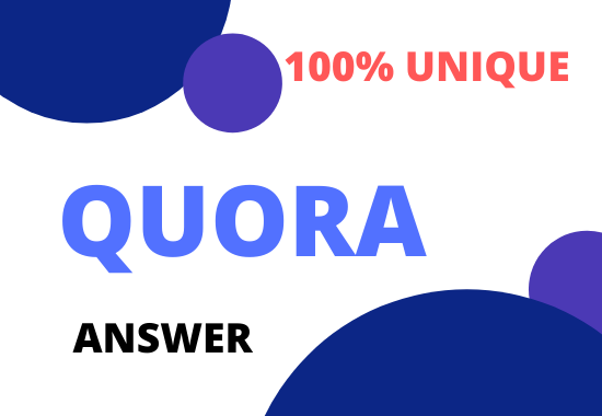 Promote 3 High Quality Quora Answer with Keyword and URL