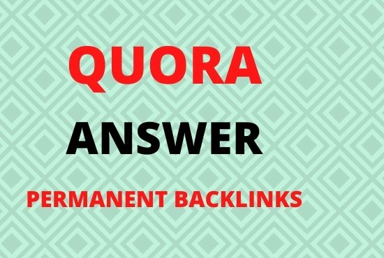 GET 24 unique Quora Answer With SEO Clickable High Quality Backlinks