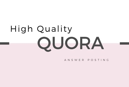 Promote website with 3 Quora Answer with Quality Backlink