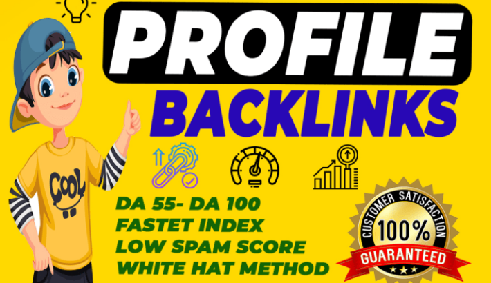 increase your domain authority DA 90+ high quality 10 profile backlink