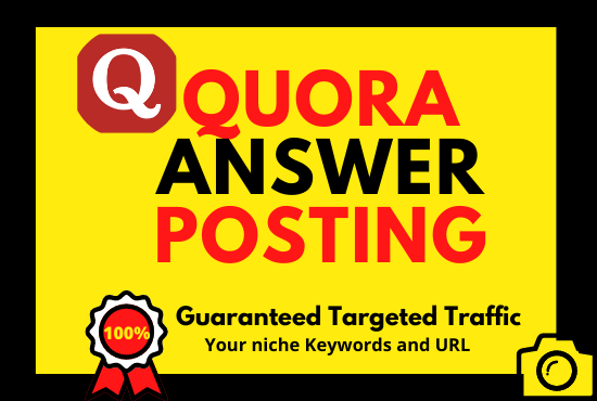 Powerful Guaranteed 3 Quora Answer Backlink With Your Keywords & URL