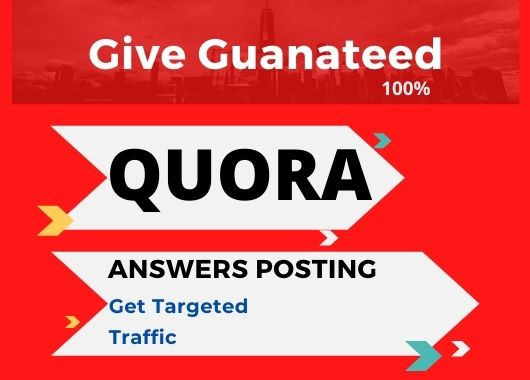 provide Promote your website with 3 HQ Quora answer Backlink